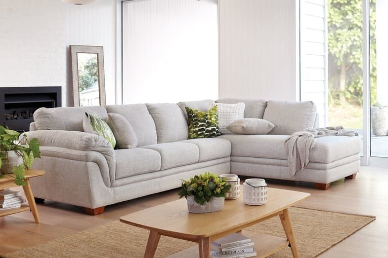 Demi 3 Seater Fabric Sofa with Chaise by La-Z-Boy