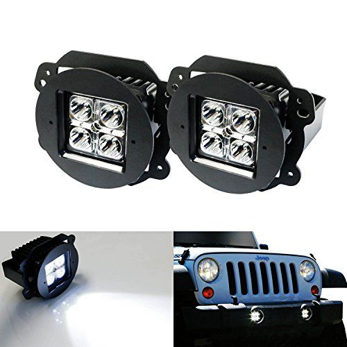 Ijdmtoy 40w Cree Led Fog Light Kit With Metal Mounting Brackets