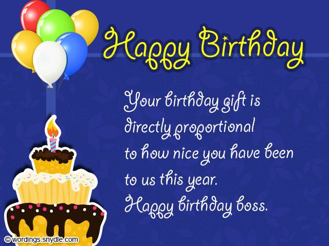 birthday wishes for boss and card wordings happy message – Birthday Card Messages for Boss