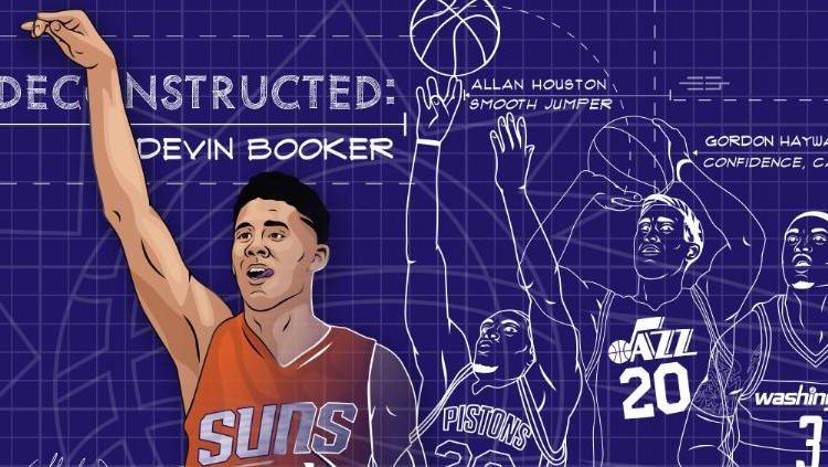 Devin Booker Deconstructed Illustration Devin booker