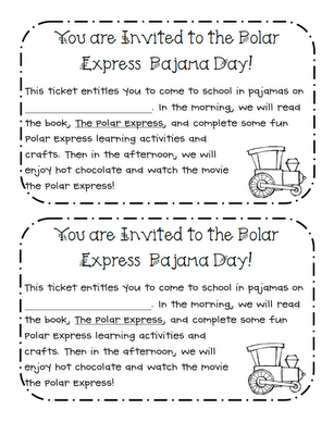 Polar Express Pajama Day