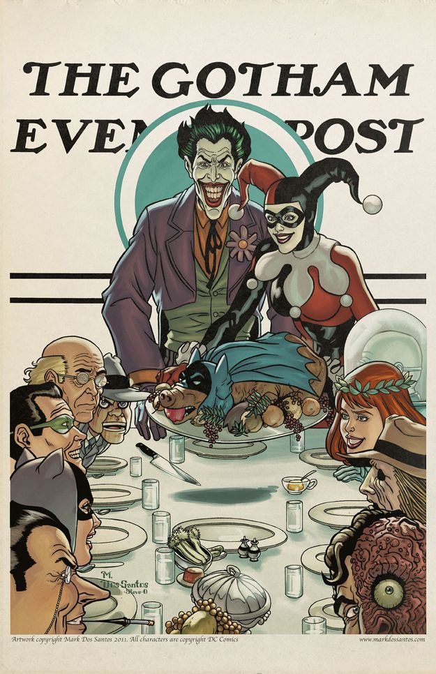 If Norman Rockwell Was From Gotham City Gizmo Gifts For Geeks