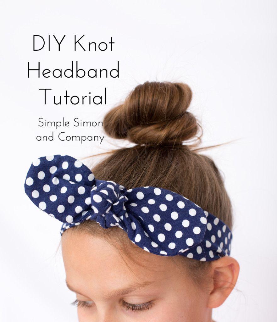 Diy Knot Headband Tutorial Learn To Sew Headband