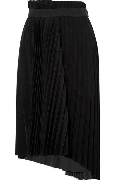 a0b33ed09e BALENCIAGA Pleated crepe midi skirt | Fashion & Style | Midi skirt ...