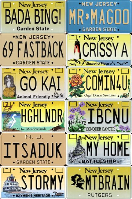 New Jersey Motor Vehicle Commission: Temporary Vehicle Tags