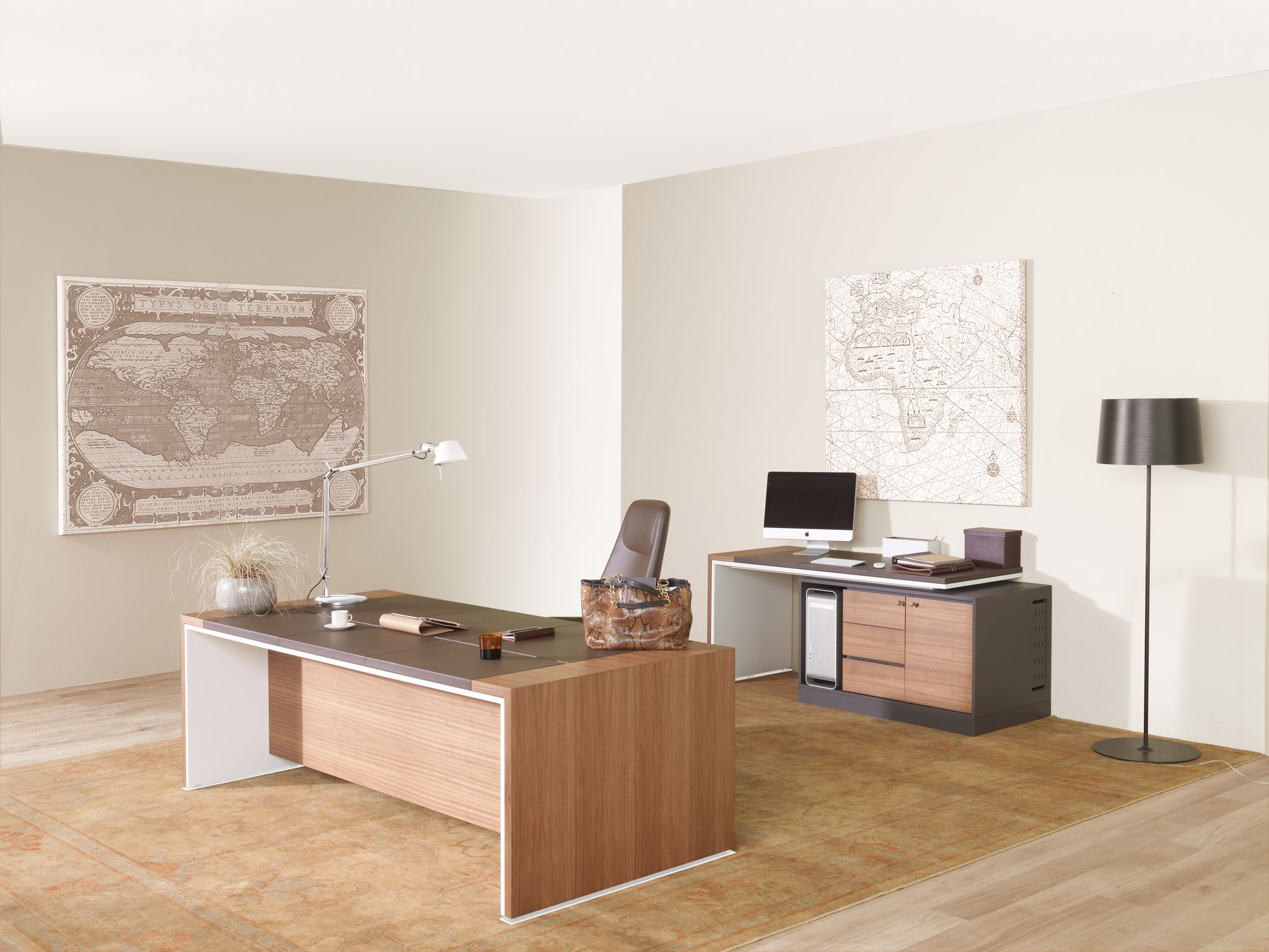 Rectangular Wooden Executive Desk Loop Estel Office Line By Group Design Alberto Stella