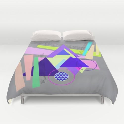 lines and triangles  Duvet Cover #bed #bedroom #bedroomdecor #bedding #duvet #duvetcover #duvetcovers #dorm #dormroom #dormdecoration #pattern #triangles #home #circles @society6
