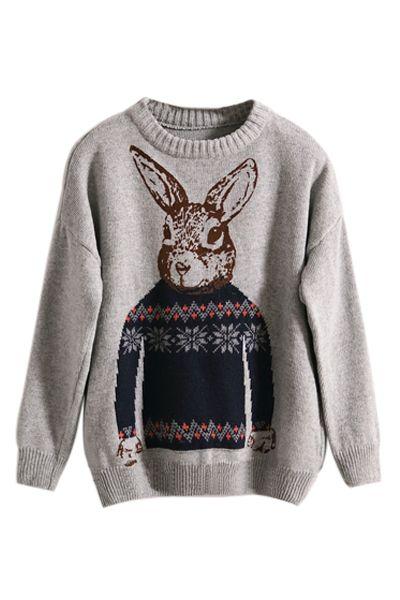 Nordic Hare Sweater