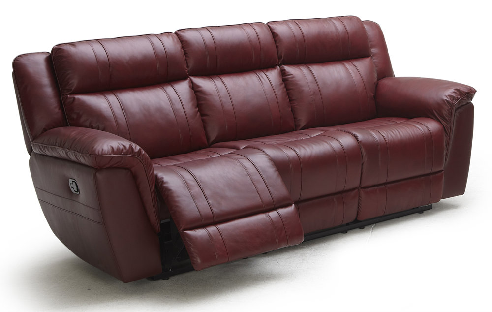 Red Leather Power Reclining Sofa | American Home | Albuquerque, Santa Fe,  Farmington   NM