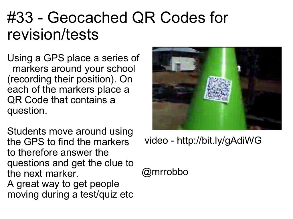 40 interesting ways to use QR Codes in the classroom