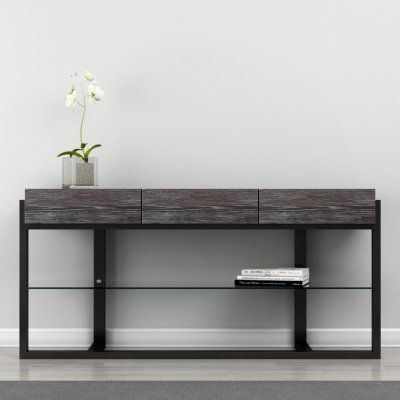 Furnitech 64 In Multi Functional Contemporary Console Table