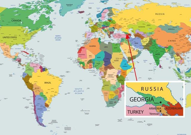 Map Of Georgia Country MAPS OF GEORGIA COUNTRY Pinterest - Georgia kazbegi map