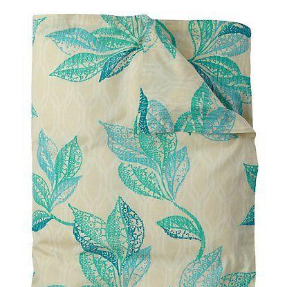 Shaye Organic Duvet & Sham in Lake (floral Pattern, Duvet) | Duvet Covers and Shams from Company C
