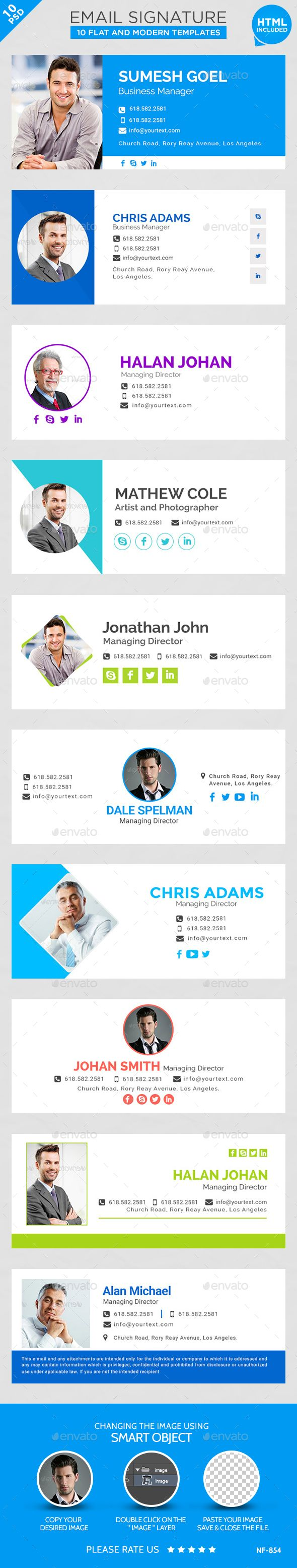 EmailSignatures 10 Templates by doto Email Signature