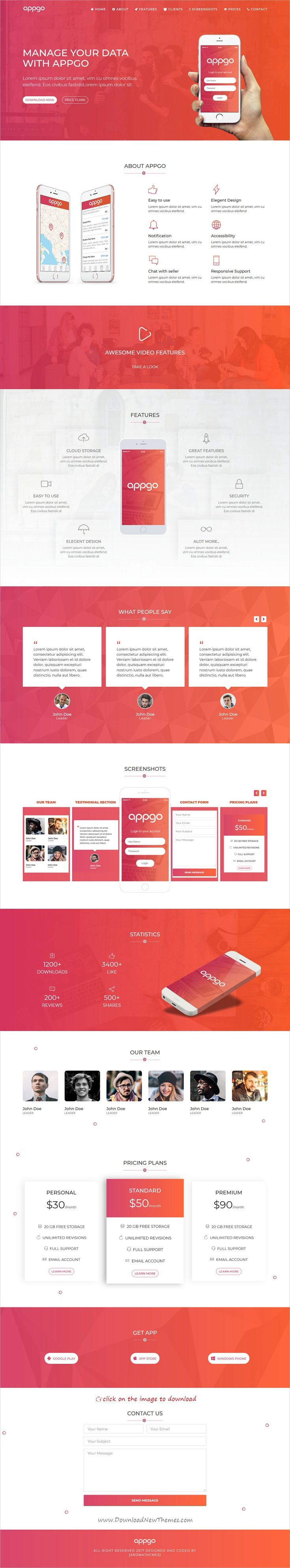 Appgo App Landing Page