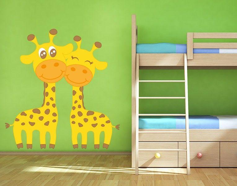 Wandsticker verliebte giraffen wandtattoos kinderzimmer wandsticker und wandtattoos - Klebefieber kinderzimmer ...