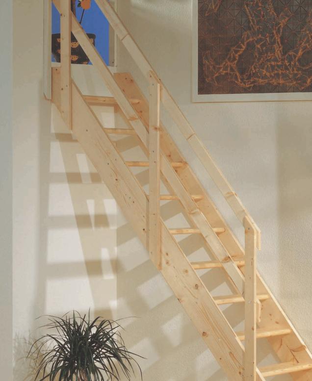 Madrid Wooden Space Saver Staircase Kit Loft Stair: Dolle Normandie Wooden Space Saving Staircase Kit (Loft