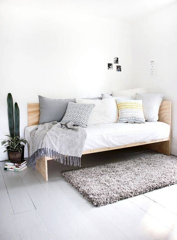 Bed Ideas For Small Rooms Or Small Spaces Domino Diy Daybed Home Decor Bedroom Furniture