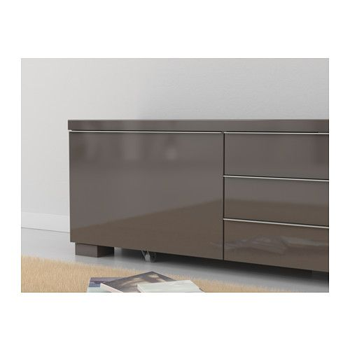 best burs tv bank hochglanz grau ikea m bel. Black Bedroom Furniture Sets. Home Design Ideas
