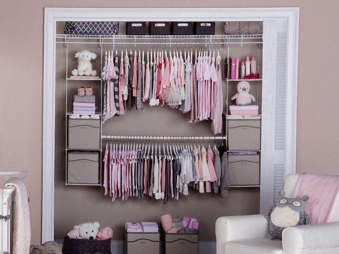 Nursery Organization · Rubbermaid Closet Storage