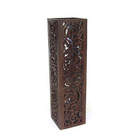 Vases Vase Fretwork Vase Wood Fretwork 55205 Wsquare