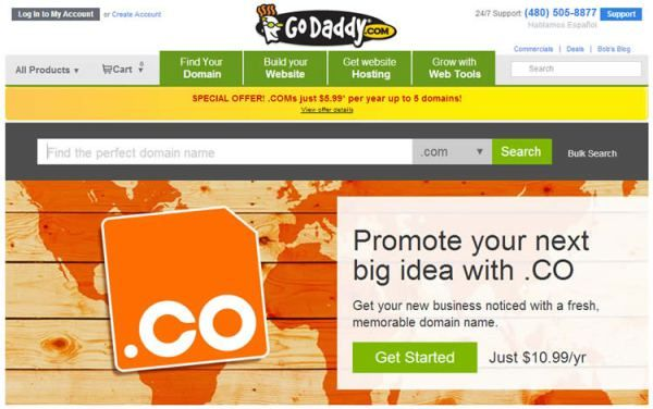 Promo Coupon Code Co Domains 11 99 1st Yr At Godaddy Coupons