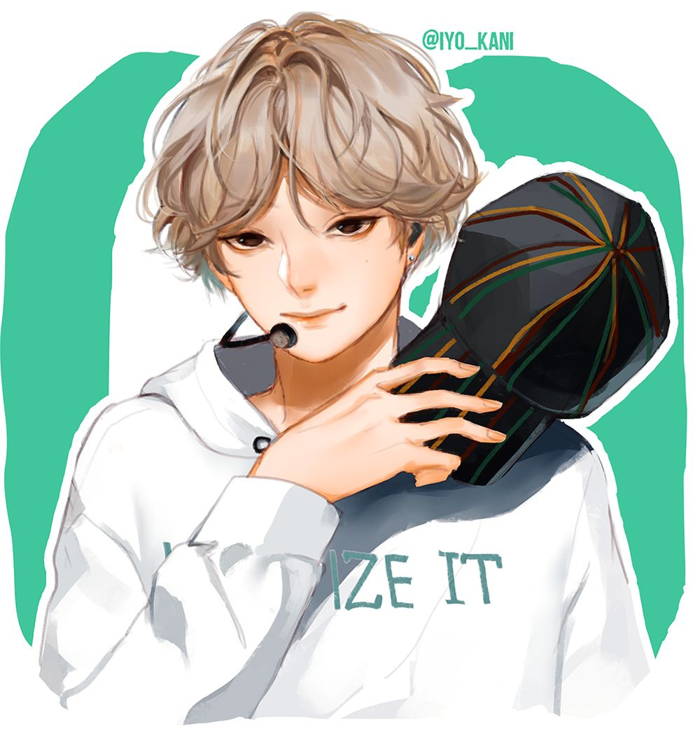 BTS GO V by Iyokani Чиби, Фан арт, Аниме