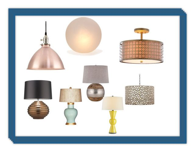 """""""Lights"""" by lopluz on Polyvore featuring interior, interiors, interior design, home, home decor, interior decorating, Mitchell Gold + Bob Williams, Zoffany, Safavieh and Barclay Butera"""