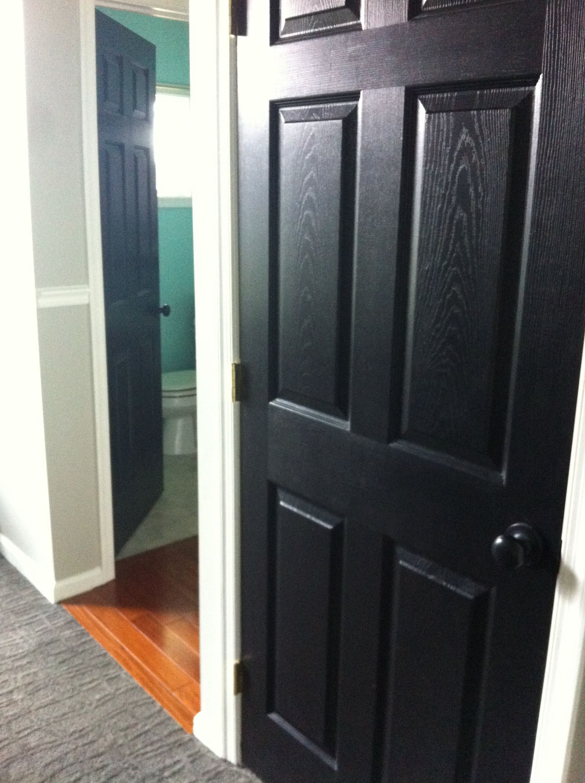 Black Doors With Oil Rubbed Bronze Knobs Blend In Ch