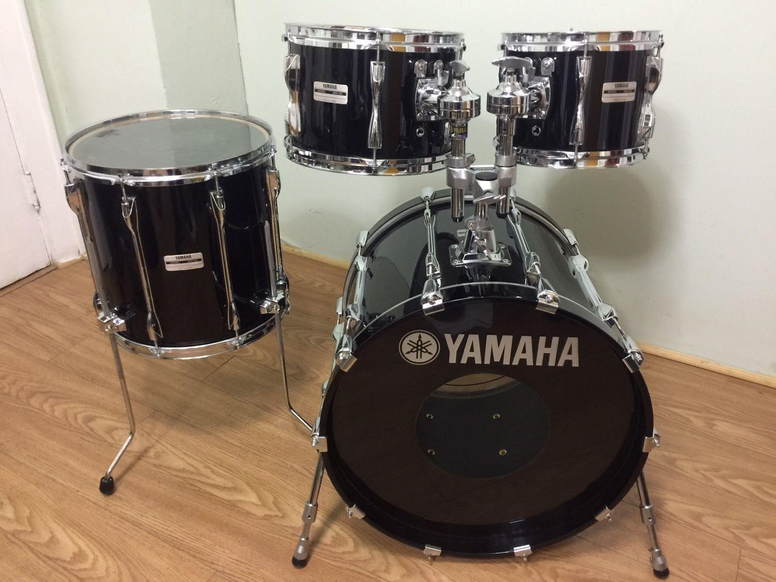Yamaha Recording Custom 20 10 12 14 Piano Black Drum Set Japan ...