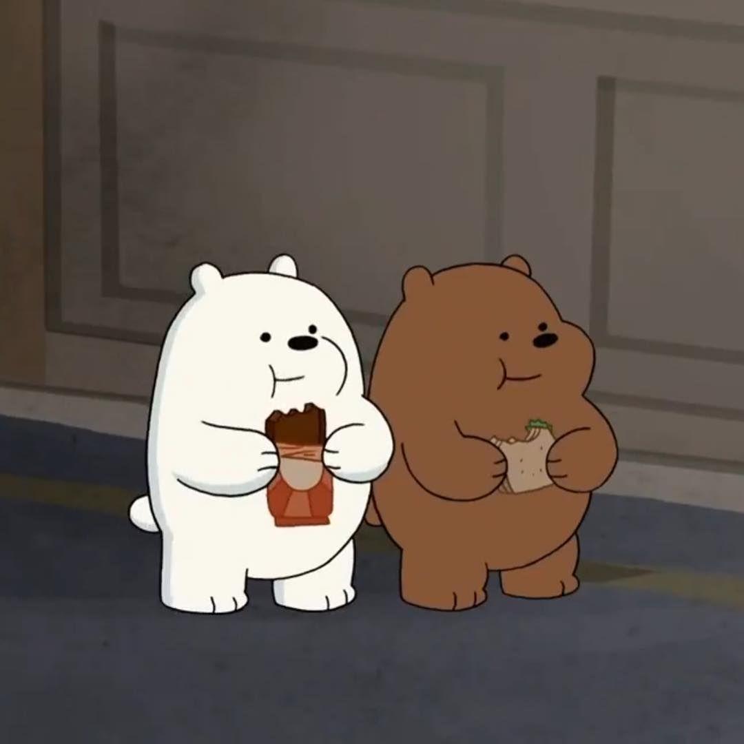 A Animacao We Bare Bears Ursos Sem Curso Narra A Historia De Pardo Panda E Polar Tres Forasteiros Tentando Encontrar U Ursos Wallpapers Bonitos Ursos Fofos