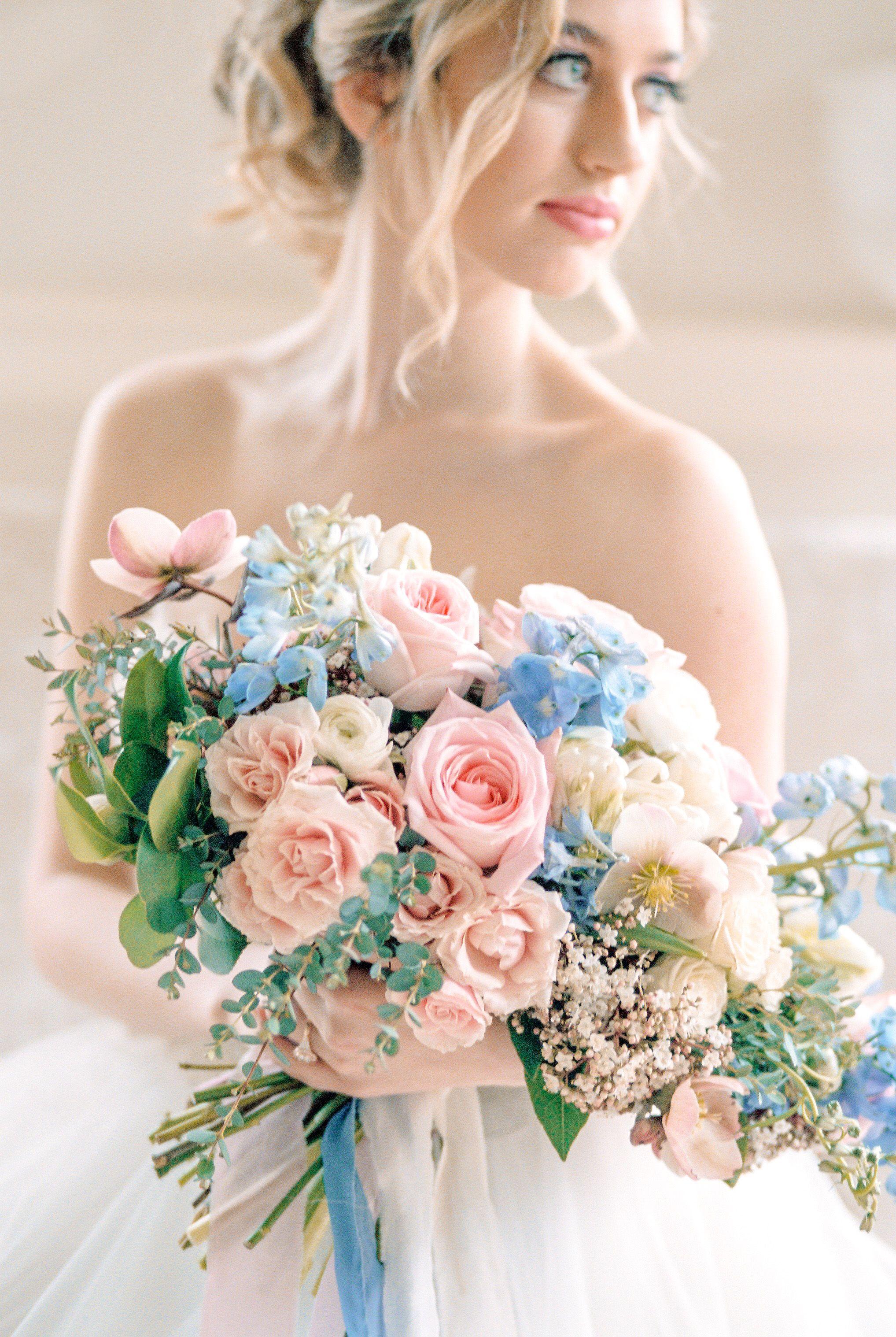Something Blue Spring Wedding Flowers Blue Wedding Flowers Wedding Bouquets Pink Pink Wedding Flowers