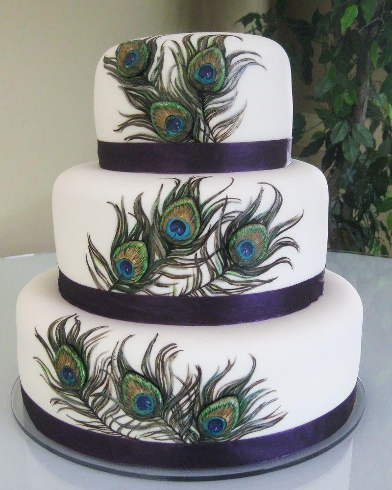 httpwwwutahcakescomc241Ljpg Lovely Peacock Wedding Cake