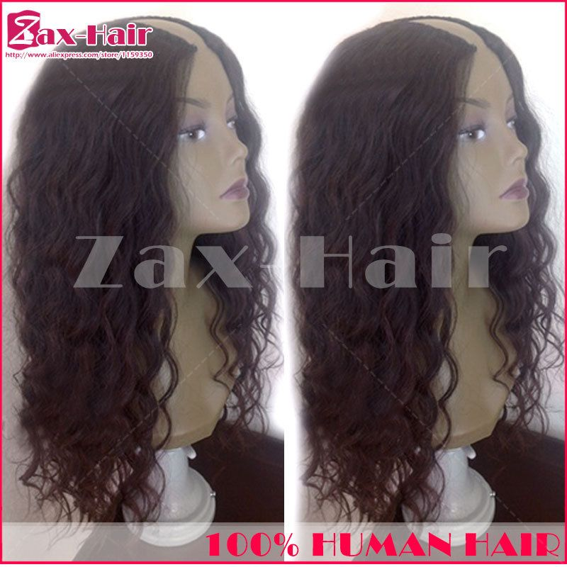U part wig wavy human hair wigs fashion customized u part wigs virgin hair can be permed Middle/ left/ right 130 density stocked