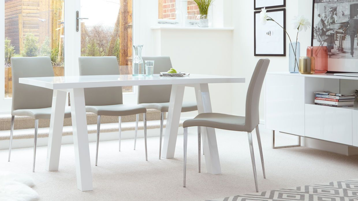 Zen 6 Seater White Gloss Dining Table £269.00