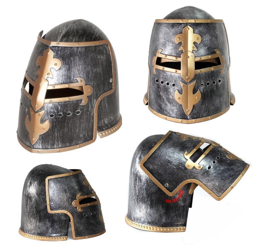 8ab171bef9e3c Silver Pewter Knight Roman Armor Crusader Helmet Mask Medieval Adult  Costume  NickyBigsNovelties  GreatHelmHelmet