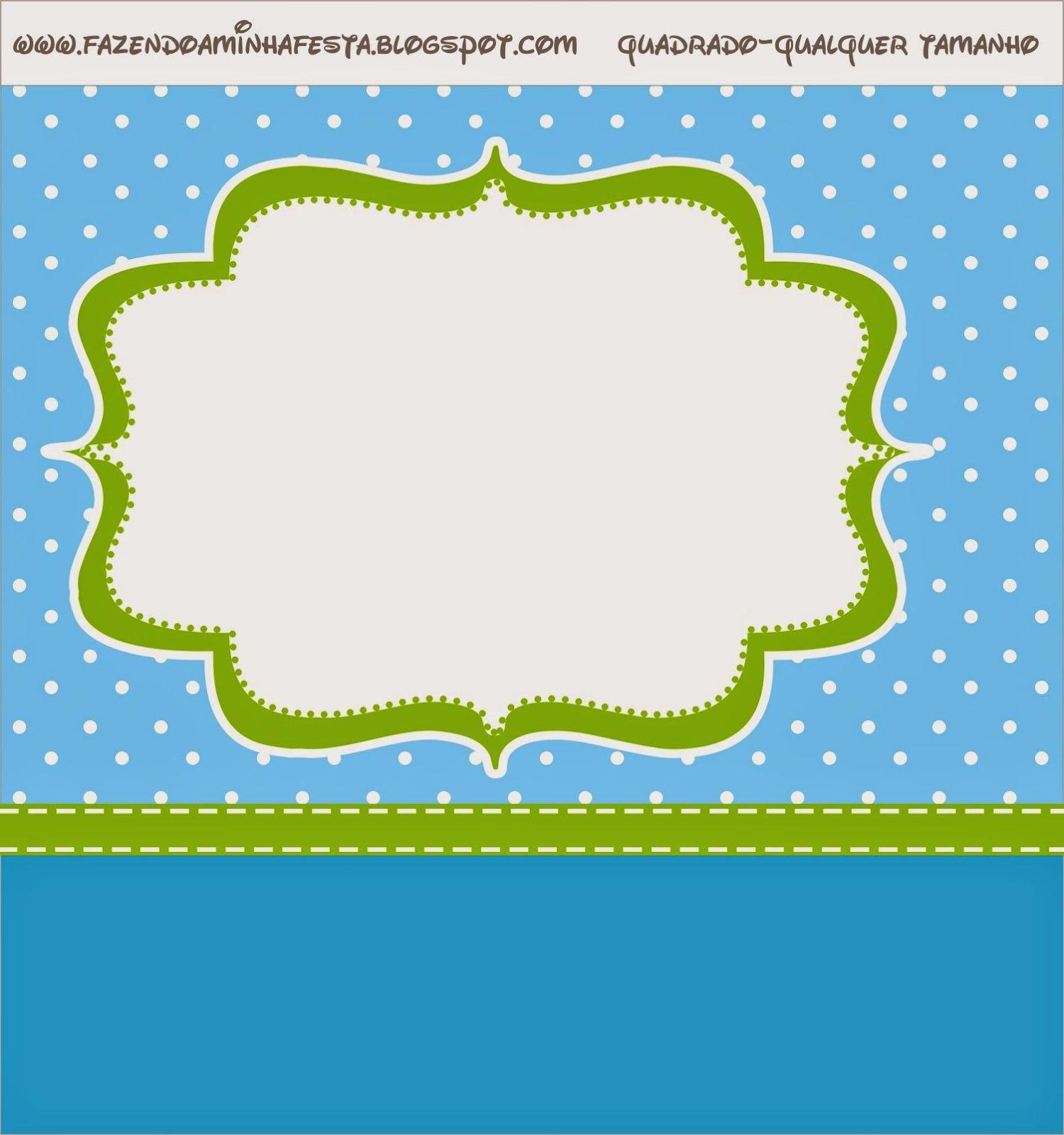 Azul y Verde Limón: Etiquetas para Candy Bar para Imprimir Gratis ...