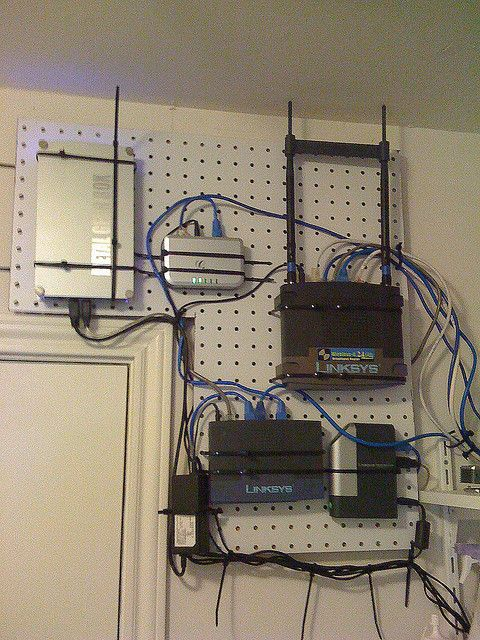 Pegboard Network Flickr Photo Sharing Home Network Peg Board Network Cabinet