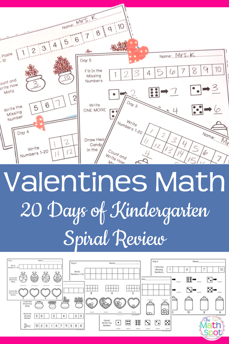 Valentines Day Kindergarten Math Activities | Math activities ...