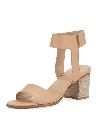 cf54f6e94d VINCE Josslyn Leather Block-Heel Sandal, Nude. #vince #shoes #sandals