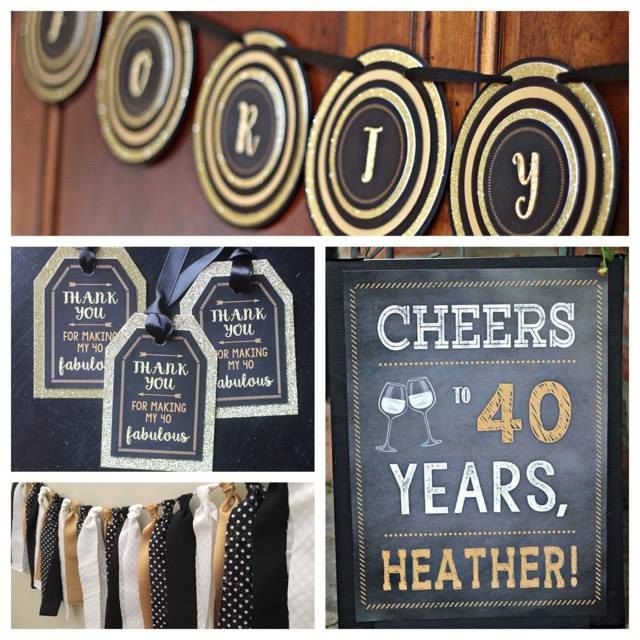 40 AND FABULOUS Forty and Fabulous Ladies Birthday decorations