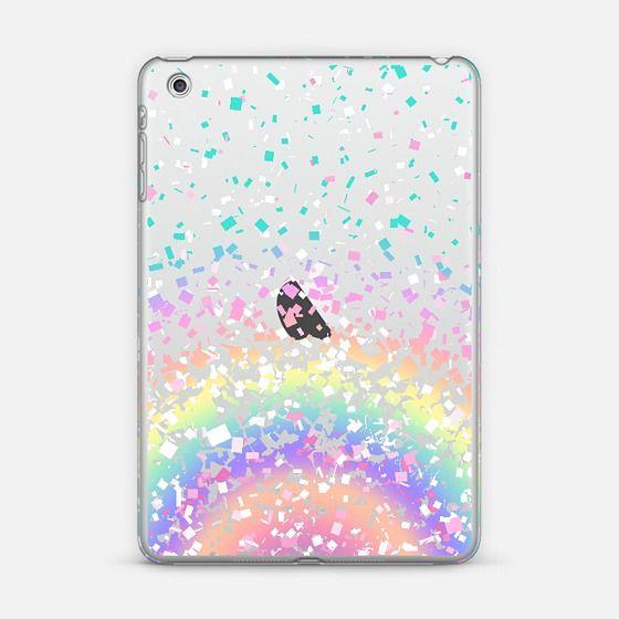 Pastel Rainbow Confetti Explosion Transparent