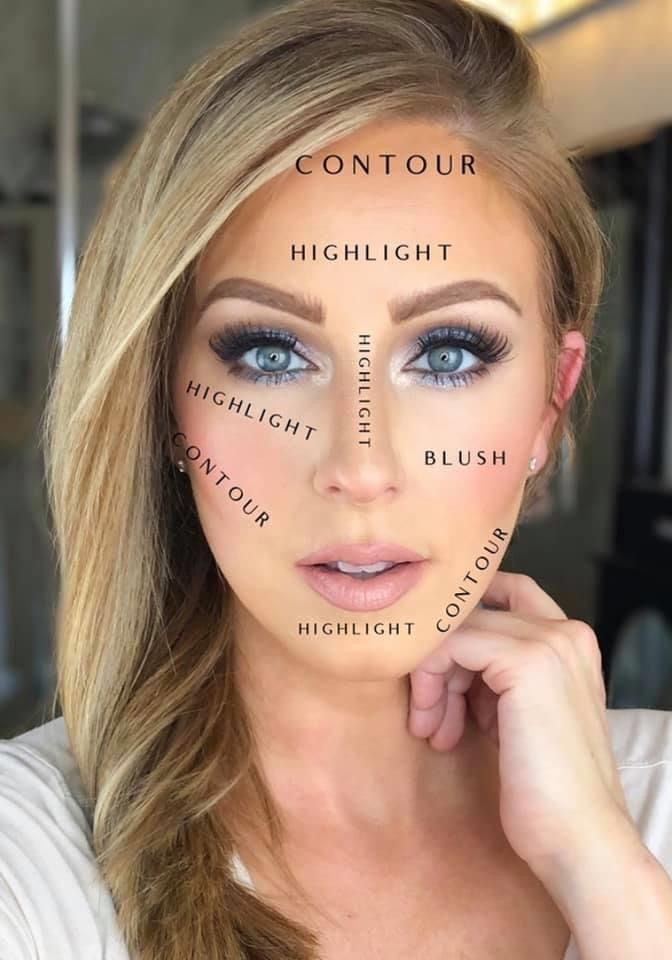 Use makeup to frame your face
