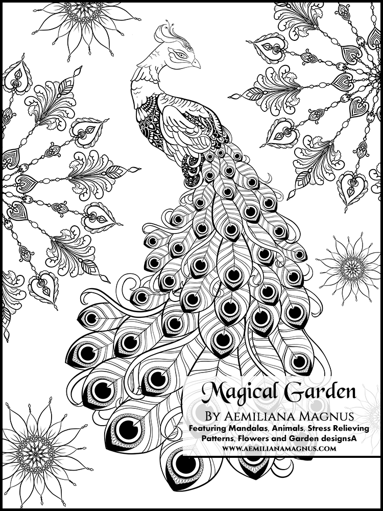 amazoncom magical garden stress relief adult coloring book featuring mandalas animals stress relieving patterns flowers and garden designs - Magical Garden Coloring Book