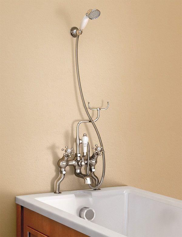 Burlington Claremont Angled Bath Shower Mixer with Shower ...