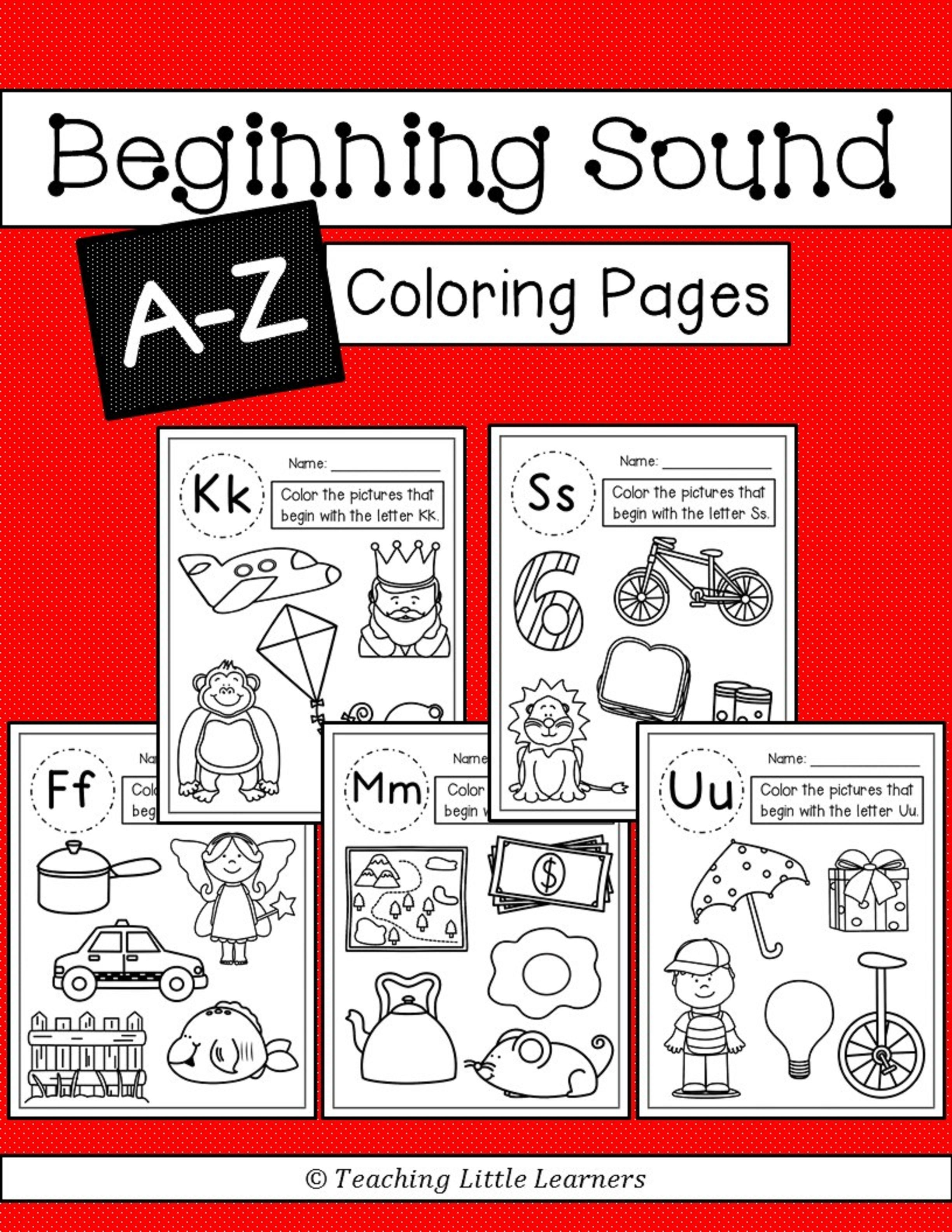 Beginning Sounds Coloring Pages | Pinterest | Pre-school, Students ...