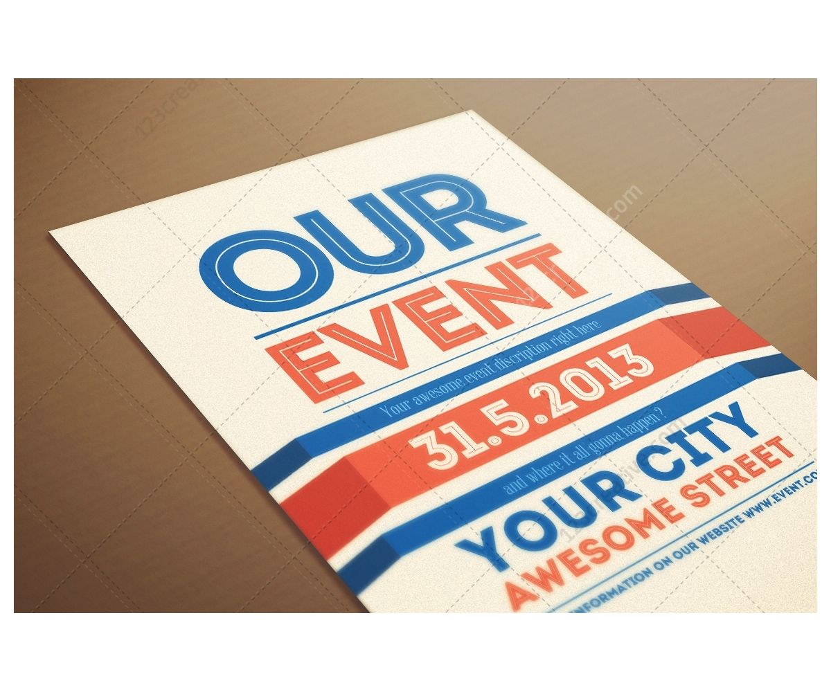 Design Poster Templates - Our event flyer template modern clean and minimal poster design psd flyer poster template