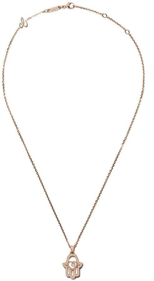 db8cf13b0 Chopard 18kt Rose Gold Good Luck Charms Diamond Pendant Necklace in ...