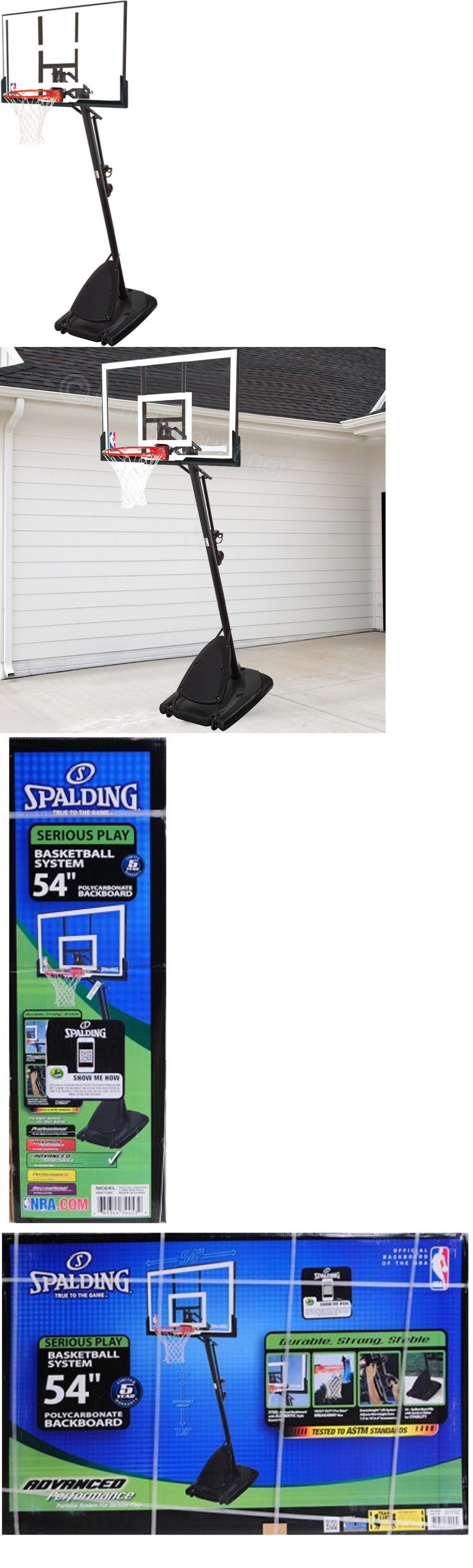 backboard systems 21196 spalding nba 54 angled pole backboard