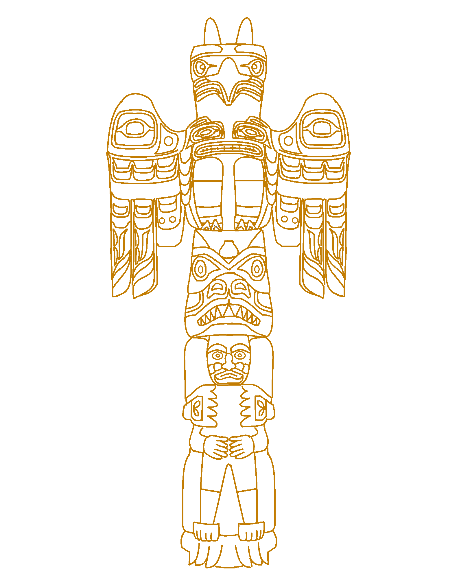 Website Dedicated To Paper Totem Poles Great Resource
